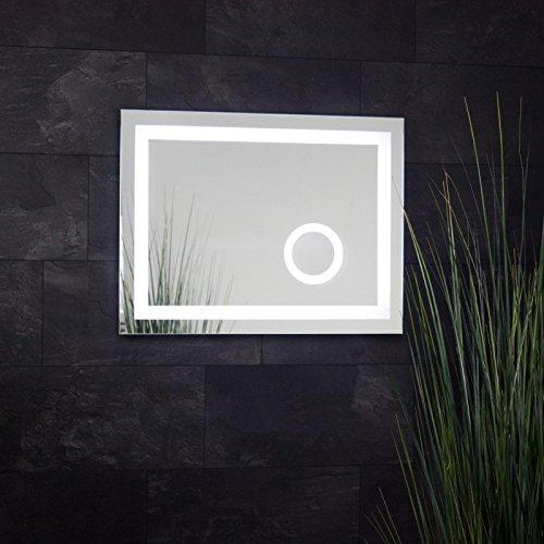led badspiegel 80 x 60 cm 0 m bel24. Black Bedroom Furniture Sets. Home Design Ideas