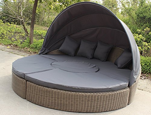 lounge rattan rundgeflecht gartengarnitur gartenm bel sonneninsel sonnenliege m bel24. Black Bedroom Furniture Sets. Home Design Ideas