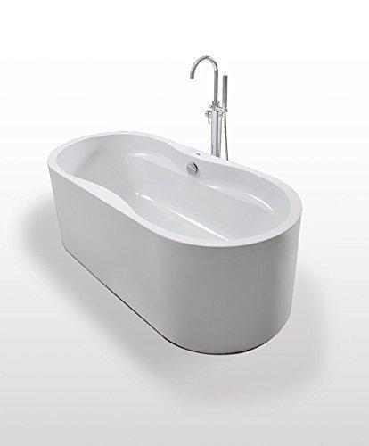 Luxus Design Badewanne Freistehende Wanne LIVERPOOL aus hochwertigem Acryl170x80x60 cm Made in EU