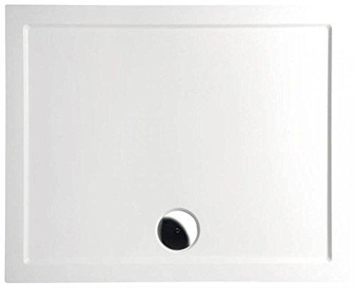 mineralguss duschwanne 110 90 begehbare dusche 1100x900x40 mm wei m bel24. Black Bedroom Furniture Sets. Home Design Ideas
