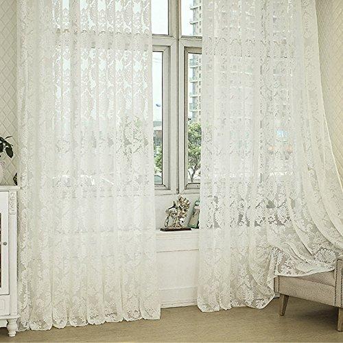 R.LANG Vorhänge Schlafzimmer mit Kräuselband Oben Gardinen Creme