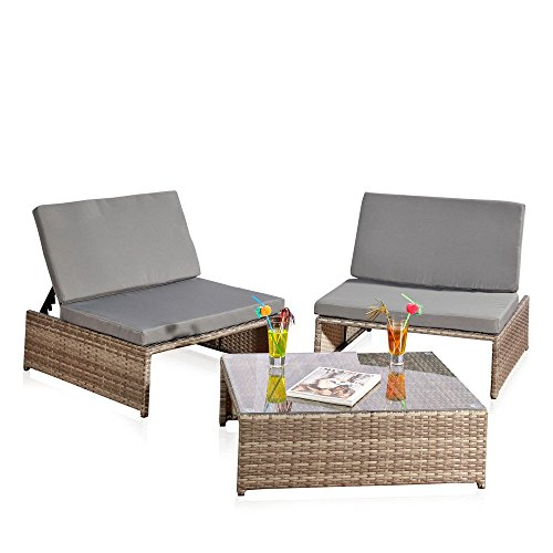 sitzgarnitur 2 sessel und tisch gartenset gartenm bel lounge poly rattan grau m bel24. Black Bedroom Furniture Sets. Home Design Ideas