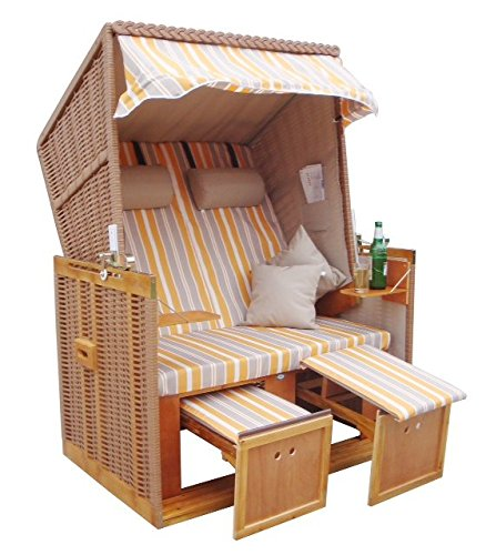 wohnwerk strandkorb nordsee de luxe exklusiv f r amazon inklusive abdeckhaube und. Black Bedroom Furniture Sets. Home Design Ideas