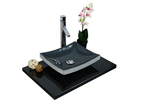 waschbecken aus naturstein granit model dublin anthrazit g654 35x30cm m bel24. Black Bedroom Furniture Sets. Home Design Ideas