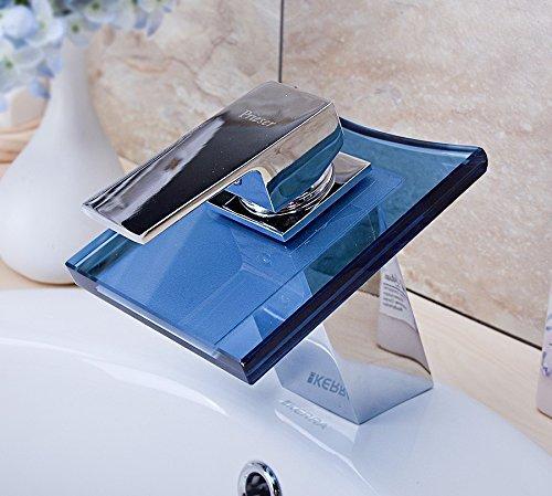 Wasserhahn glas armatur wasserfall badezimmer armatur - Wasserfall armatur ...