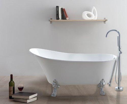 Freistehende badewanne classico w wei m bel24 for Kleine badewannen