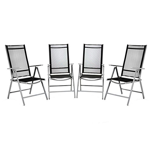 4er set klappstuhl aluminium komfortbreite gartenstuhl klappst hle alu schwarz m bel24. Black Bedroom Furniture Sets. Home Design Ideas