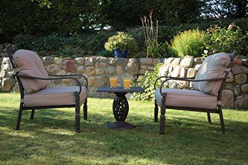 Aluguss Gartensessel Set, Gartenmöbelgarnitur, Outdoor Gartenmöbel Loungesessel