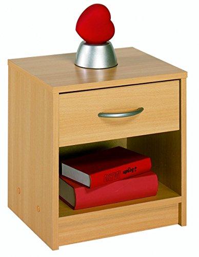 Demeyere 4602 Nachttisch, 1 Schublade, 1 Regal, buche natur