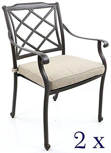 Gartenstühle, Aluguss - Rückenlehne Flecht-Design