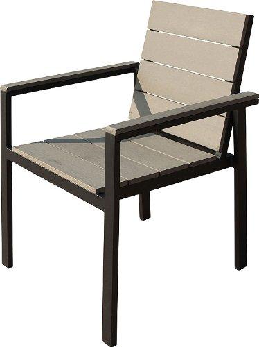 IB-Style - TOPPREIS Set Stapelstühle DIPLOMAT-POLYWOOD | 3 Set- Kombinationen | Aluminium / Polywood nature grey | Gartenstuhl Stapelstuhl Sessel Gartenmöbel Gartengarnitur