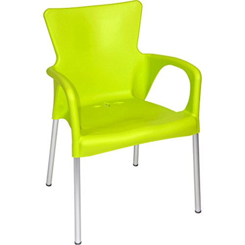 Stuhl Stapelstuhl Gartenstuhl 4er Set grün Kunststoff stapelbar 85 cm
