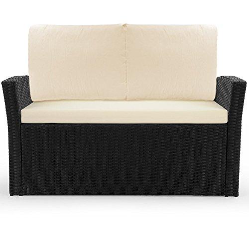 4 1 polyrattan gartenm bel set terrasse wintergarten. Black Bedroom Furniture Sets. Home Design Ideas
