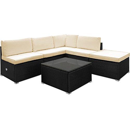 Poly Rattan Lounge Set aus leichtem Aluminium Sitzgruppe Sitzgarnitur Gartenliege Gartenset