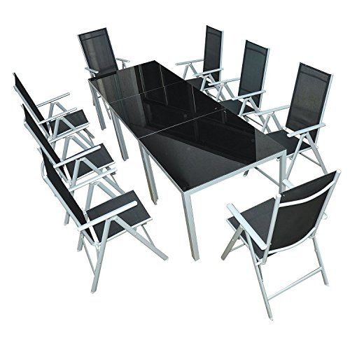 Outsunny® 11-tlg Sitzgarnitur Sitzgruppe Gartengarnitur Gartenset Gartenmöbel Garten Alu (11-tlg)
