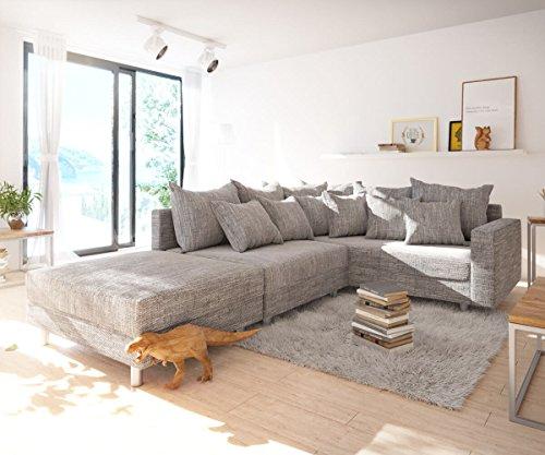 Sofa clovis erweiterbares modulsofa eckcouch for Eckcouch ecksofa mit hocker