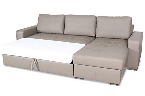 sofa couch leder ecksofa florentina mit schlaffunktion braun m bel24. Black Bedroom Furniture Sets. Home Design Ideas