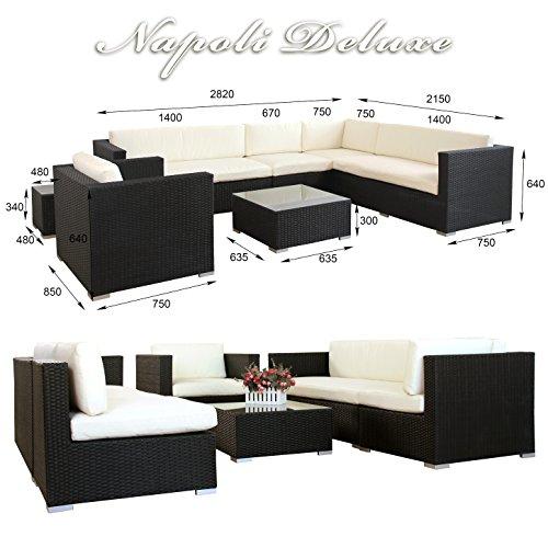 napoli polyrattan schwarz gartenm bel rattan lounge gartenset sitzgruppe alu m bel24. Black Bedroom Furniture Sets. Home Design Ideas