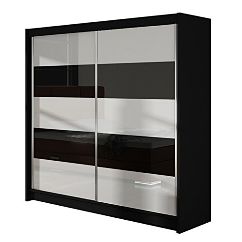 modernes kleiderschrank falco iii schwebet renschrank hochglanz garderobe schlafzimmer. Black Bedroom Furniture Sets. Home Design Ideas