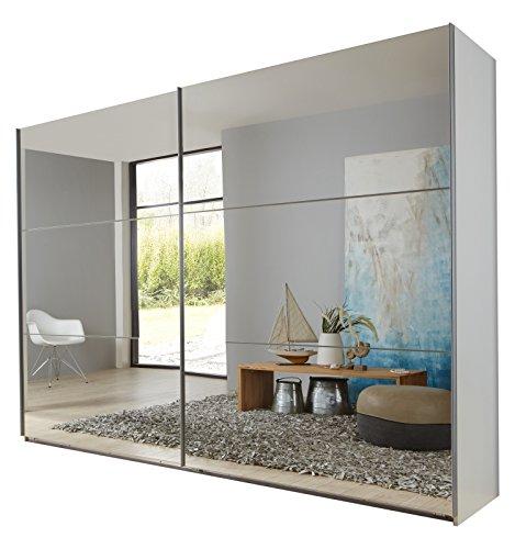 Wimex 974805 Schwebetürenschrank, 225 x 210 x 65 cm, korpus alpinweiß / front spiegel