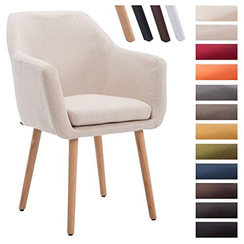 clp besucher stuhl utrecht max belastbarkeit 150 kg stoff bezug holz gestell eiche sitzflche. Black Bedroom Furniture Sets. Home Design Ideas