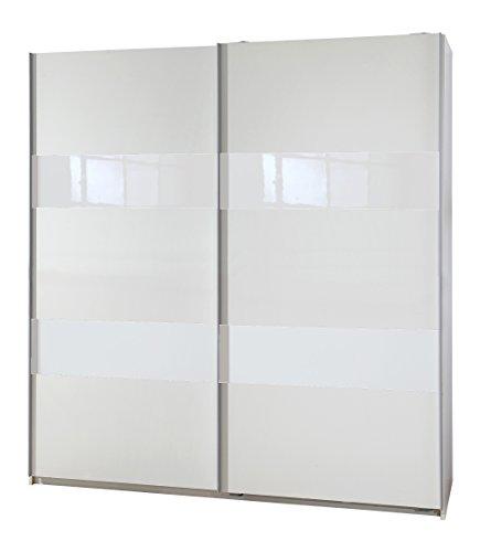 Wimex 007771 Schwebetürenschrank Front und Korpus, 180 x 198 x 64 cm, weiß