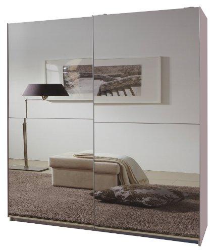 Wimex 034772 Schwebetürenschrank 198 x 180 x 64 cm,, Front vollverspiegelt, alpinweiß