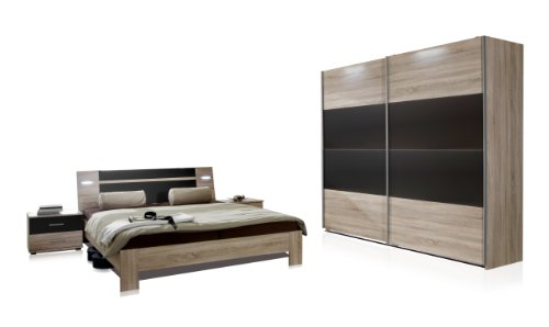wimex 751342 schlafzimmer set bestehend aus schwebetrenschrank 225 x 210 x 65 cm bett 180 x 200. Black Bedroom Furniture Sets. Home Design Ideas
