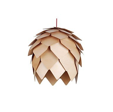 Design Style Pinecone Funktion L 220 V LED warme Holz Pendelleuchte