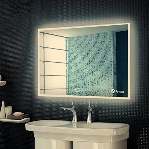 Anten® LED Badspiegel mit Beleuchtung 19W neutralweiß IP44 Badezimmerspiegel mit Sensor-Schalter 60x80 cm
