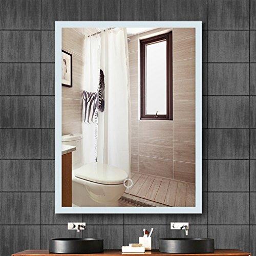 Tonffi® Badspiegel 60x80CM Vertikal LED Spiegelleuchte 6000K Weiß 20W 4000LM Touch-Schalter IP44 SMD2835 Aluminium - rahmen 5mm Silberspiegel mit Beleuchtung Ra>75