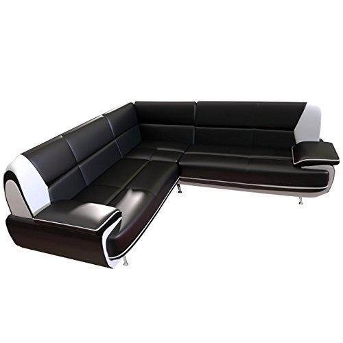 Design Ecksofa Palermo Maxi, Couchgarnitur, freistehendes Polsterecke Sofa, große Farbauswahl, Wohnlandschaft Couch (D-8 + D-511)