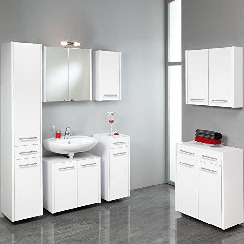 Komplett Badezimmer Set wei Badmbel Badezimmermbel XL Badset Bad Waschplatz