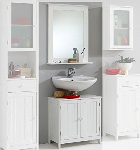Landhaus Badezimmer Waschplatz Badmbel wei Badezimmerschrank Gste WC Bad