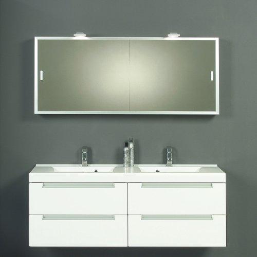 THEBALUX Komplett Badmbel Set matt wei Badezimmer Waschplatz Spiegelschrank