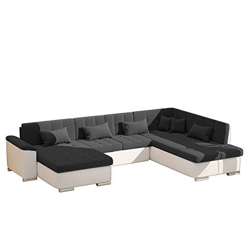 AUSVERKAUF !! Eckcouch Ecksofa Niko Bis SALE! Design Sofa Couch! mit Schlaffunktion und Bettkasten! U-Sofa Farbauswahl! Wohnlandschaft vom Hersteller (Soft 017 + Dot 95, Seite: Links)
