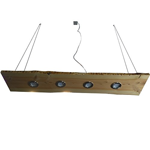 LED 120 cm Massivholz Shabby Chic 4 x 5W Decken Lampe Holz Douglasie Natur Slim