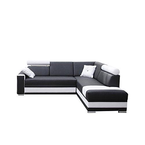 Ecksofa Roma, Farbauswahl, Ecksofa für Wohnzimmer, Gästezimmer, Wohnlandschaft, Design L-Form Couch, Elegante Eckcouch (Seite: rechts, Ek 14 + Ek 26)