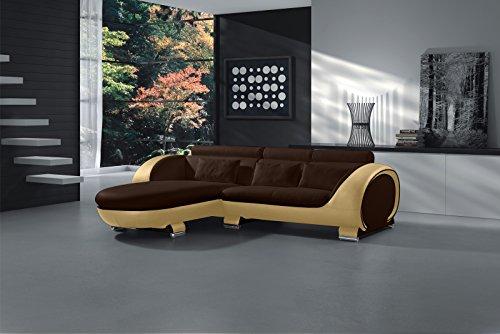 SAM® Ecksofa Vigo Combi 1 181x242 cm cm in braun creme links Polsterecke Couch Sofa