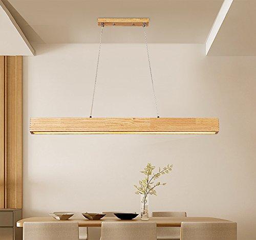 Esstischlampe LED Pendelleuchte Holz Pendellampe Acryl Höhenverstellbar Hängelampe Deckenlampe Holzlampe Kronleuchter Hängeleuchte Esstisch für Büro Esszimmer Wohnzimmer Schlafzimmer (TYP-2)