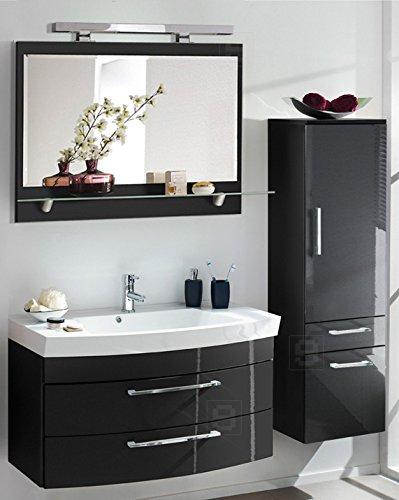 Komplett Badmbel Bad Set Hochglanz anthrazit Badezimmer Waschtisch Waschplatz