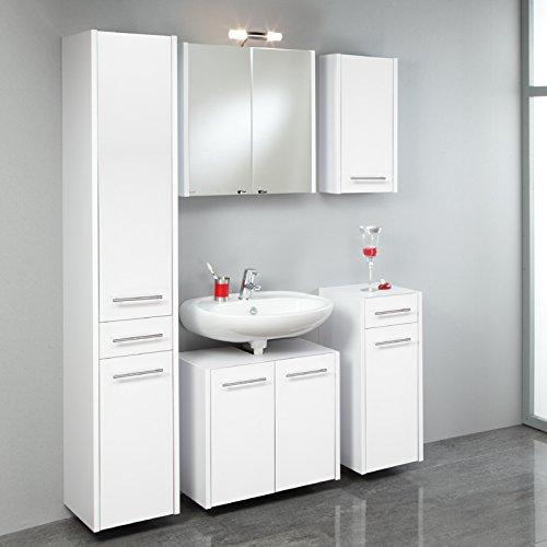 Komplett Badezimmer Set wei Badmbel Badezimmermbel Badset Waschplatz Spiegel