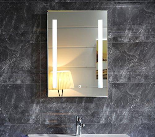 Dr. Fleischmann LED-Beleuchtung Badspiegel GS055 Lichtspiegel Wandspiegel mit Touch-Schalter 50x70cm Tageslichtweiß IP44