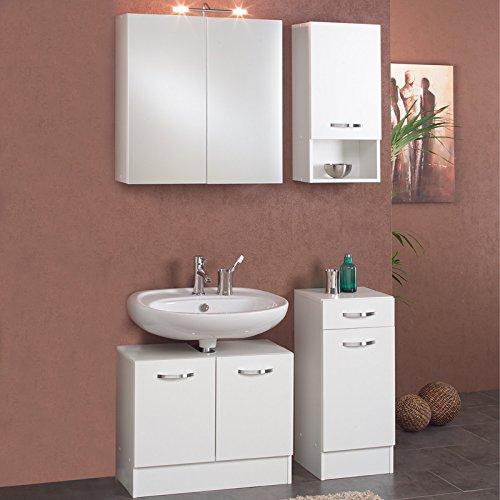 Badezimmer Set wei Badmbel Badezimmermbel Badset Bad Waschplatz Unterschrank