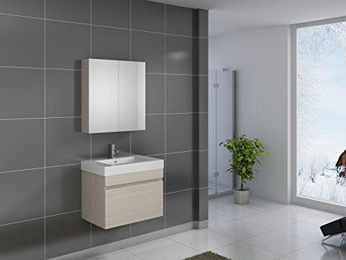 SAM® Badmöbel-Set Parma, 70 cm, Designer-Badset mit Softclose-Funktion, wahlweise als 3-, 4- oder 5-teiliges Badmöbelset in 5 verschiedenen Farben mit Spiegelschrank