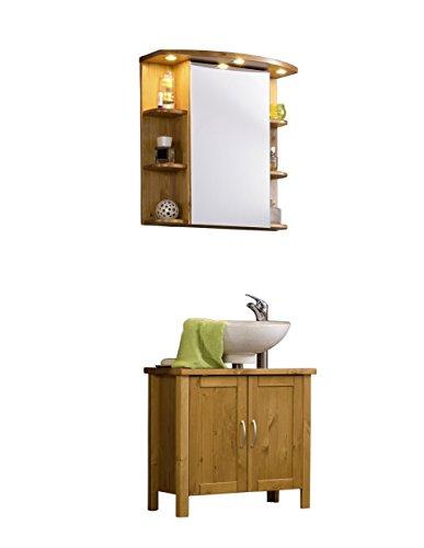 SAM® Badmöbel-Set Venedig, Designer-Badset wahlweise als 2-, 3-, 4- oder 5-teiliges Badmöbelset in 2 verschiedenen Farben mit Spiegelschrank
