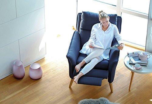 place to be! Top moderner Relaxsessel in Premiumqualität im skandinavischem Stil. Ohrensessel mit Schlaffunktion und hoher Lehne in 11 verschiedenen Stoffen und verschiedenen Massivholzarten.