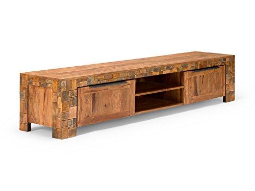 massivum Lowboard Mayari 228x50x48 cm Palisander braun lackiert