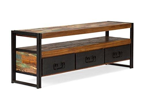 massivum Lowboard Quebec 160x55x40 cm Hartholz bunt lackiert