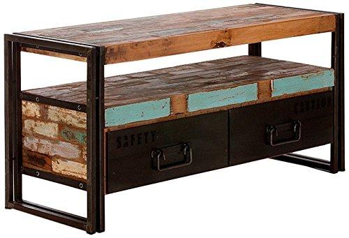 massivum Lowboard Quebec 112x55x40 cm Hartholz bunt lackiert